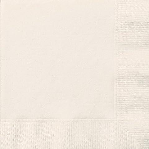 Unique Party - 32372 - Paquet de 50 Serviettes en Papier - 16,5 cm - Ivoire