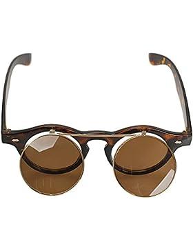 Gleader Gafas De Sol De Estilo Steampunk De Goth Del Vintage De Color Leopardo