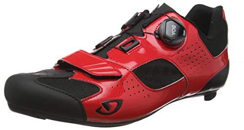 Giro Herren Trans (boa) Road Radsportschuhe - Rennrad, Mehrfarbig (Bright Red/Black 000), 43 EU -