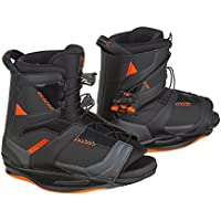 RONIX Network Botas Wakeboard, Hombre, Negro (Space Black/Electric Orange), 7.5-9.5