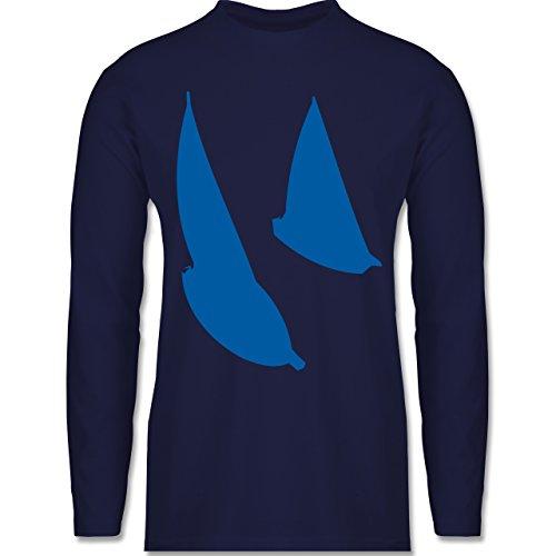 Schiffe - Segelboote - Longsleeve / langärmeliges T-Shirt für Herren Navy Blau
