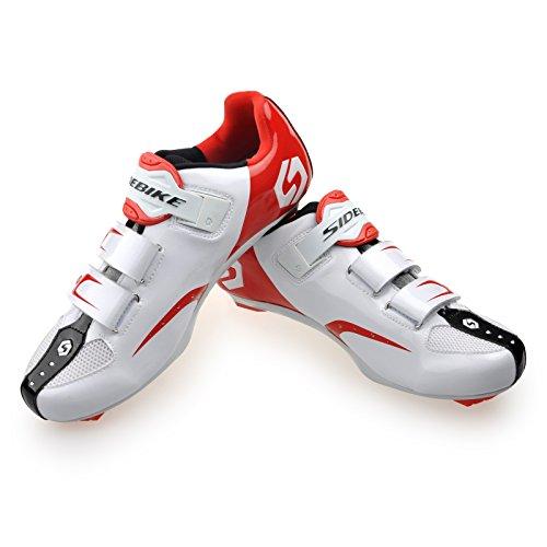 Chaussures vélo de VTT / Route Homme Femmo SD-001 Route-blanc et rouge