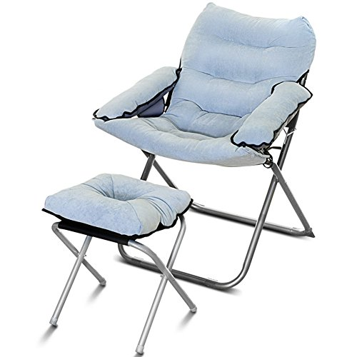 QIDI Chaise Longue Pliante Extérieure en Métal Haute-52cm (Couleur : Style 3)