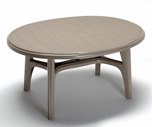 Idée Tables extérieur, Tables télescopiques Table en Plastique, Table, Table de Jardin, Table Ovale pour extérieur, tavolo150 x 113ideapiu