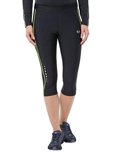 Ultrasport 11061 - Pantalones cortos de correr para mujer, color negro