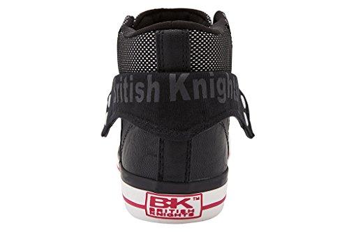 British Knights Roco - Tennis montantes - femme Noir/fuchsia