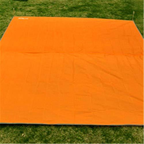 ing Tuch ultraleichte feuchtigkeitsbeständige Plane Zelt Matte Picknick Matte Multifunktions Regen Abdeckung Poncho Großhandel (Color : Orange) ()