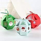 ybbghio 10Pcs Weihnachtspapier-Süßigkeit-Kasten-Fördermaschinen-Geschenk-selbst Gemachte Kekse,...