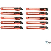 10 Stück Cuttermesser mit 9 mm Abbrechklingen, Teppichmesser