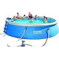 Bestway Fast Set Pool mit Filterpumpe und Zubehör, blau, 549 x 122 cm