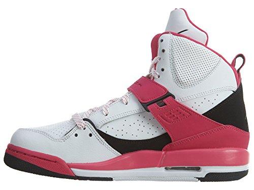 Nike Mädchen Jordan Flight 45 High Ip Gg Basketballschuhe Blanco (Blanco (White / Black-Vivid Pink))