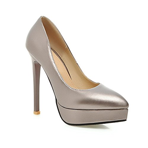 Adee Mesdames spikes-stilettos nappa-leather Pompes Chaussures Gris - gris