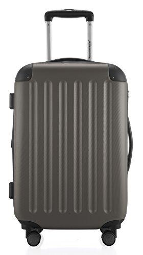 Hauptstadtkoffer - Spree - Handgepäck Hartschalen-Koffer Trolley Rollkoffer Reisekoffer Erweiterbar, TSA, 4 Rollen, 55 cm, 42 Liter, Graphit - 3