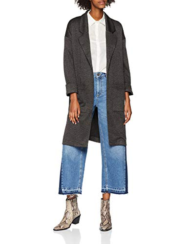 PIECES Damen Mantel PCDORITA 3/4 Coatigan NOOS Grau Dark Grey Melange, 38 (Herstellergröße: M)