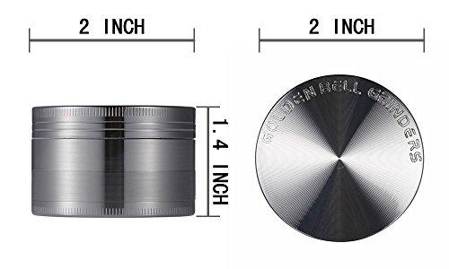 """confronta il prezzo [Grinder Garanzia a Vita] LIHAO 2""""(50mm) Spezie Erbe Grinder in 4 Pezzi Tritino in Metallo - Nickel nero miglior prezzo"""