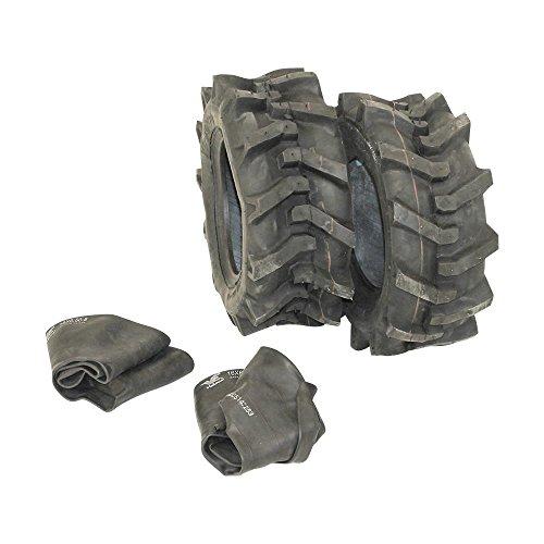 2x Reifen 16x6.5-8 plus 2x Schlauch für Rasentraktor Stollenreifen neu