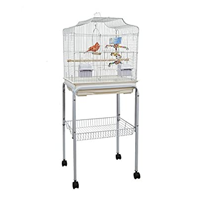 BABY PABLO BIRD CAGE WITH TABLE STAND SMALL BIRDS WHITE 1