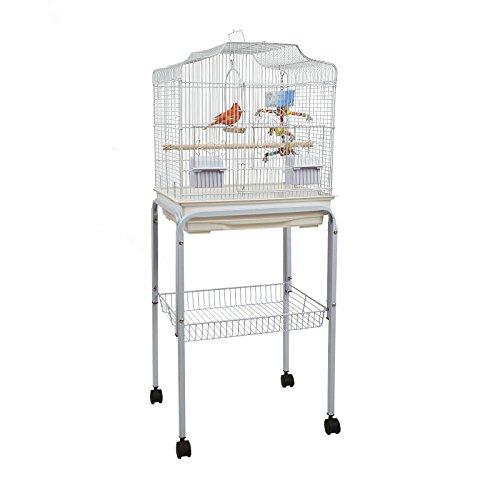 Baby Pablo Vogelkäfig mit Tisch Ständer Kleine Vögel weiß