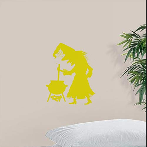 r Art Room Sticker Witch Cauldren Scary Kids Wall Poster Decoration Halloween Festival Decal Ornament for nursery kids room ()