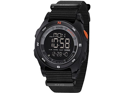KHS Tactical Mens Watch Sentinel DC Black | Nato Black Chronograph KHS.SEDCB.NB