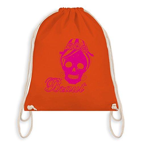 JGA Junggesellinnenabschied - Braut Totenkopf Vintage - Turnbeutel I Gym Bag Orange