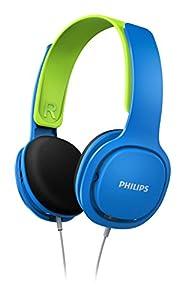 Philips SHK2000BL/00 Leichtkopfhörer inkl. Laustärkebegrenzung blau