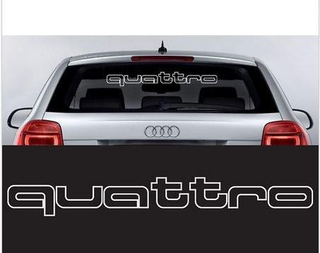 Design&Style - 1 adesivo con scritta Quattro, dimensioni 60 x 6,6 cm, Die Cut, Audi Sport R8 TT A1 A3 A8 Q5 Q7 Auto Car