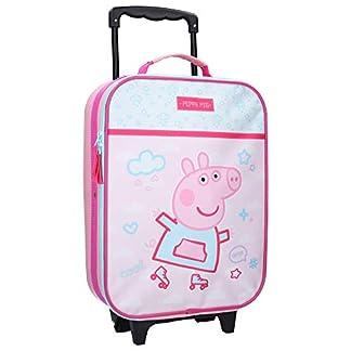 Peppa-Pig-Peppa-Wutz-Koffer-12-L-Kinderkoffer-Kindertrolley-Rollkoffer-Trolly-Handgepck-Kindergepck-Tasche-Trolleykoffer-Pink-Jungen-Mdchen