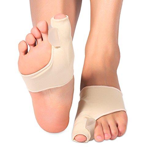 Doact ortesi per alluce valgo, gel protettore borsite e correttore di cipolla per sollievo dal dolore in alluce valgo, borsite e punta del martello, cura dei piedi