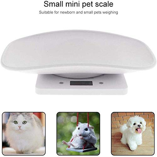 Lifesongs Elektronische Waage Digitale Haustierwaage, Mit 4 Wägemodi, Genaue Waage Für Hunde Katzen Welpen Und Kleintiere Bis 10kg, Weiß