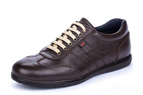 D'Calderoni Aneto Negro - Zapatos Hombre Casuales (49 EU, Chocolate)