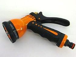 Bradas ECO-7203 Gartenbrause aus Metall 7 Funktionen, orange, 10 x 10 x 5 cm