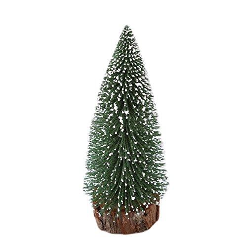 Lalang Mini Künstlicher Weihnachtsbaum Tischdekoration Weihnachten Dekorationen mit Metallständer (15cm)