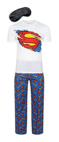 i-Smalls Herren Super Hero Comic Schlafanzug Kollektion (Superman Zerrissen) S