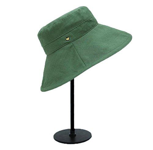 HIAO Großen Entlang Schatten Freizeit Hut Baumwolle Leinen Sommer Hut Faltbare Sonnenschutz Anti-UV-Hut Schwarz Rot Orange Grün-Grau Rosa Blau