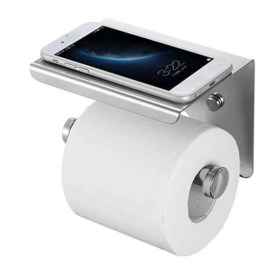 QUICK SILVER Bathroom Paper Holder Wall Mounted(Chrome Finish)