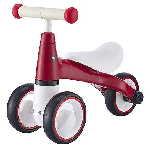 YANWE Baby Sliding Bike Ride On Toy Bici Bici per Bambini No Pedale Tre Ruote | First Trike Toddler Bike da 1 A 3 Anni | Zebra,Red