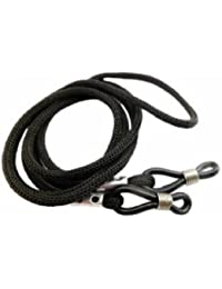 2 x Deluxe Black Neck Cord Lanyard Glasses Strap Spectacle Holder - Universal Glasses Cord For Spectacles & Sunglasses