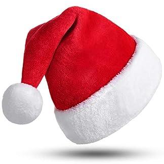 CITÉTOILE Sombrero de Navidad, Adultos de Papá Noel, Madre Sombrero de Navidad para Hombre de Mujer, Terciopelo con pompón, Disfraz Decoración navideña Cosplay Traje Novedad Beanie