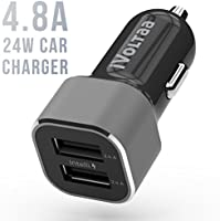 iVoltaa 4.8 A - 24W Dual Port Metal Car Charger - Black