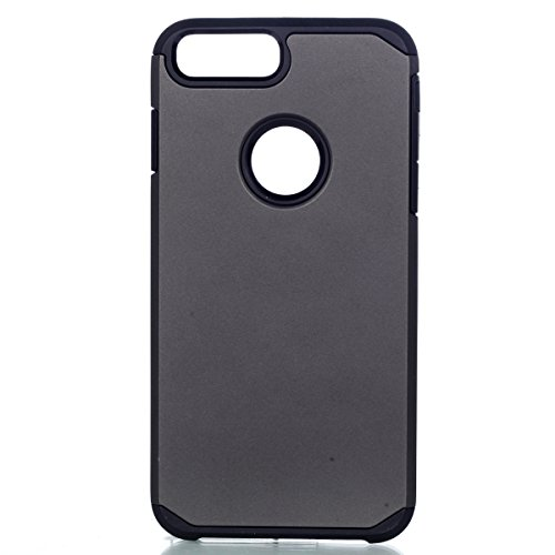 Per iphone 7 plus 5.5 pollici 2016 Neo Custodia, Ekakashop di lusso Hybrid Heavy Duty antiurto morbido silicone Gel & Rigida PC 2-in-1 non Layer antiscivolo Anti-dirt Protezione Protettivo Cover Case  Grigio