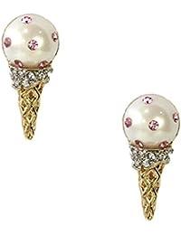 Kate Spade Carnevale notti gelato cono borchie orecchini, crema multi