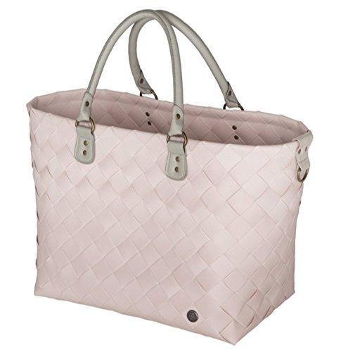 Handed By - Shopper Tasche - Einkaufskorb - Reisetasche - Saint-Tropez - Farbe: Nude - 36 x 43 x 24 cm - XL