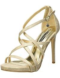 ceb0e32a XTI 35054, Zapatos con Tacon y Correa de Tobillo para Mujer