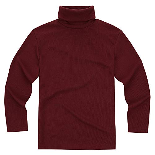 ililily Men Solid Color Basic Turtleneck T-Shirt Long Sleeve Top Pullover f82d19039780