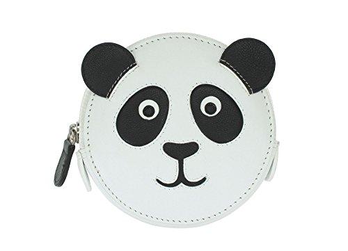 Mala Leder Münzbörse Münztasche, rund, Tier-Motiv 4155_11 Panda