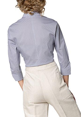 ETERNA Dreiviertelarm Bluse COMFORT FIT bedruckt Marine