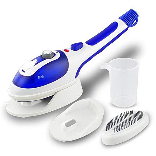 WLIXZ Mini-Handdampfer-Eisen, Haushaltsmaschine für heiße Zwecke, für Zuhause oder Reisen, Faltenentferner/Erweichen/Sterilisieren/Aktualisieren,Blue