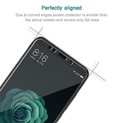 iDolix [3 Unidades] Protector de Pantalla para Xiaomi Mi A2, Cristal Templado para Xiaomi Mi A2 9H Dureza, Alta Definicion, Sin Burbujas -  Transparente