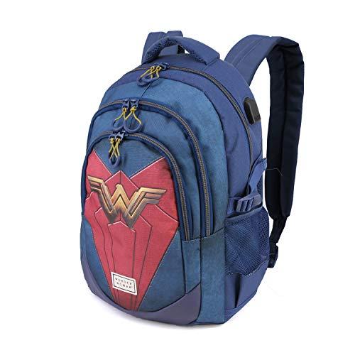 Karactermania Wonder Woman Emblem-zaino Running Hs Rucksack, 44 cm, 21 liters, Mehrfarbig (Multicolour)